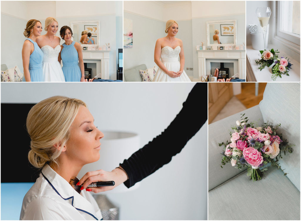 Alt: Bridal prep wedding