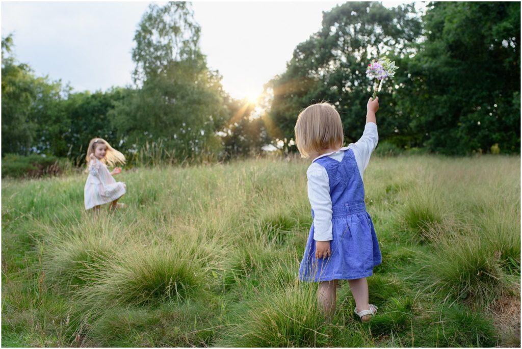 Image: girls playing family photo