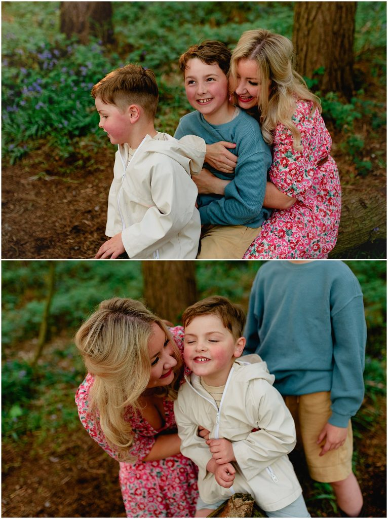Image: family in bluebells