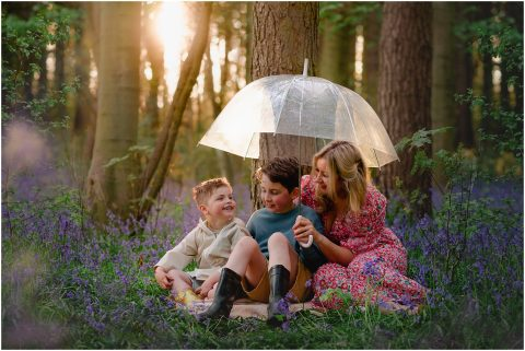 Image: family bluebell photos